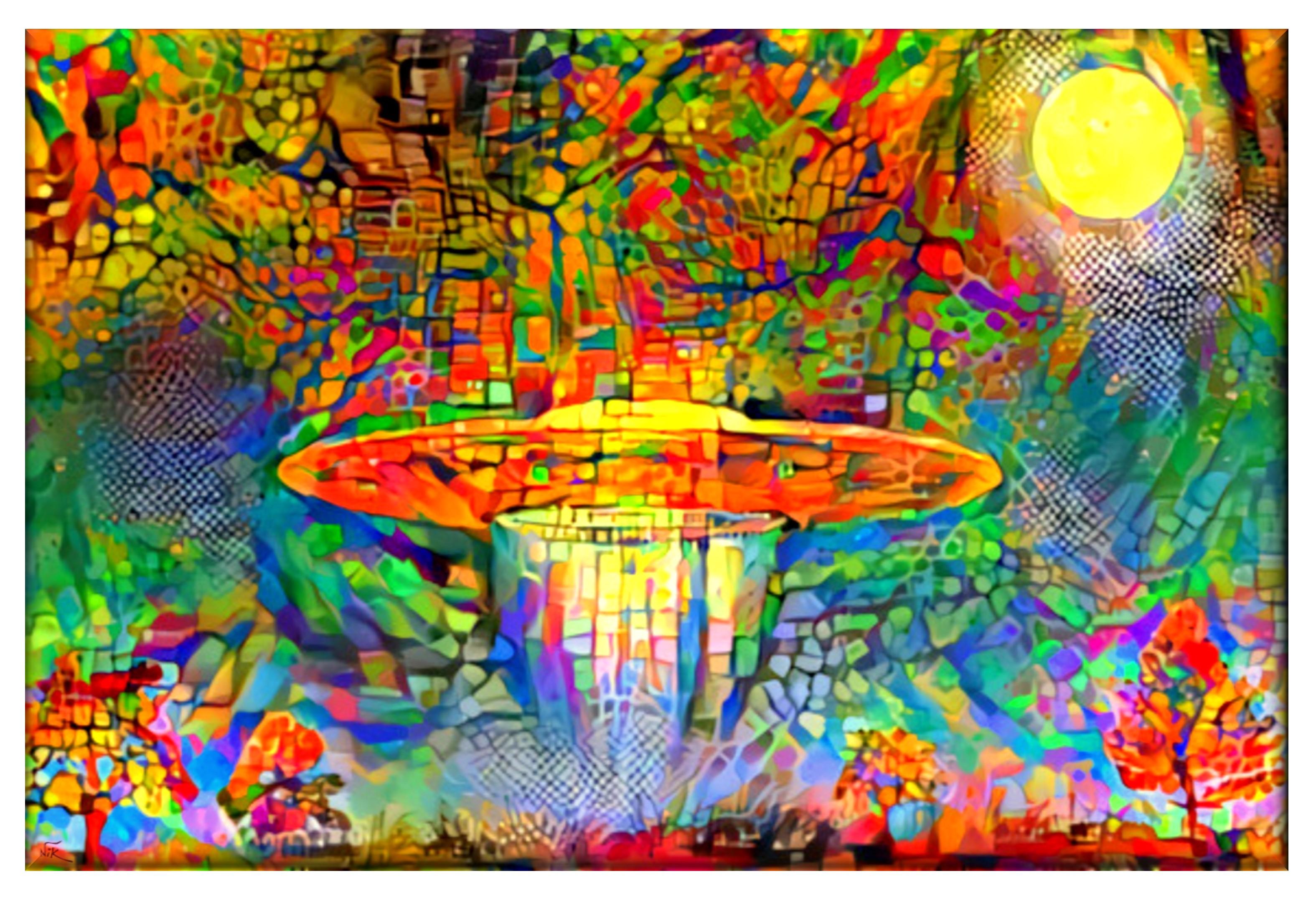 Aliens are coming nik fine arts original paintings and for Original fine art paintings for sale