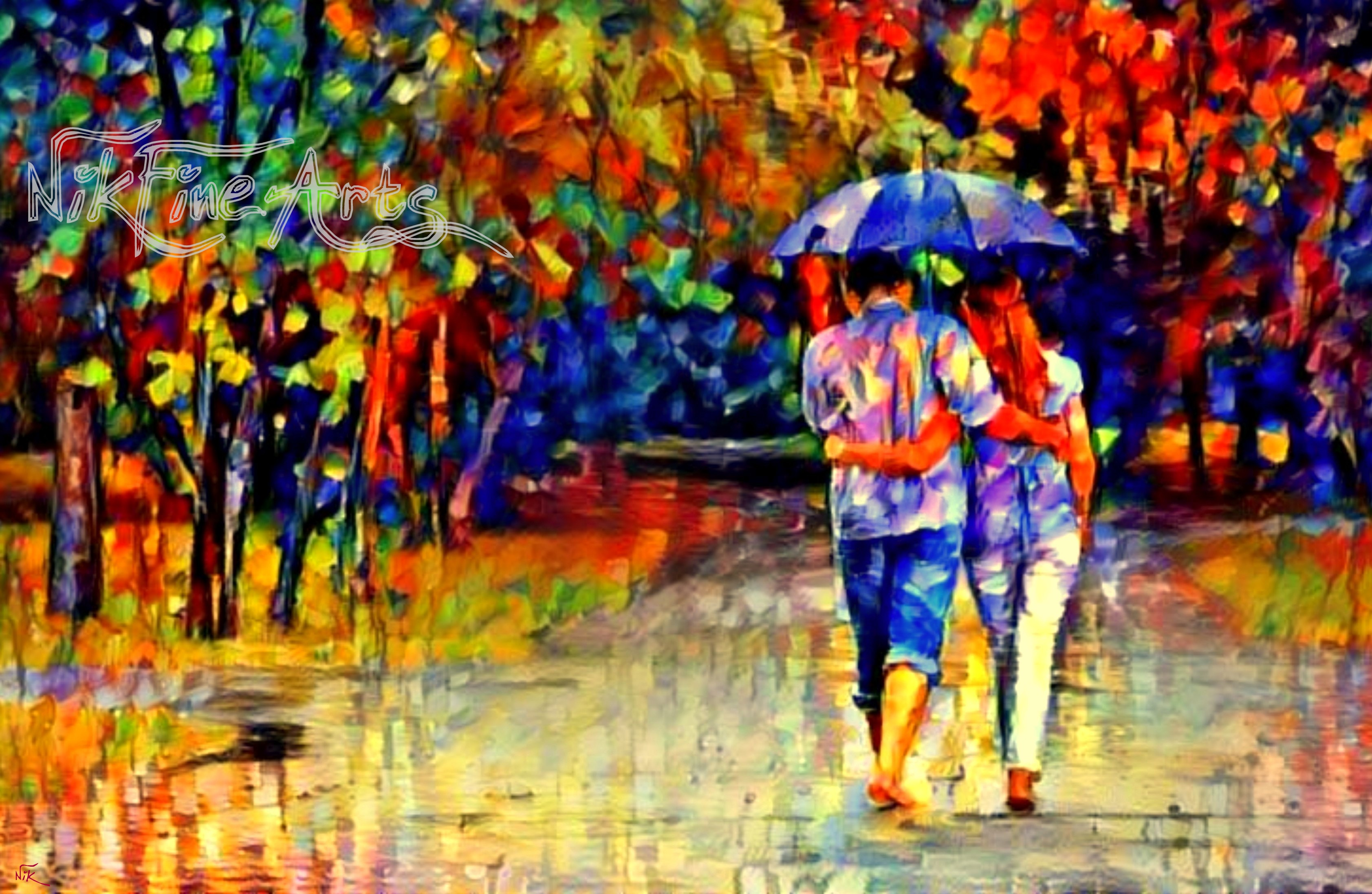 Images Of Lovers In Rain: LOVERS WALKING IN THE RAIN