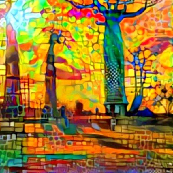baobab trees painting