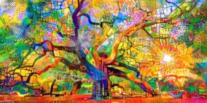 angel oak tree painting