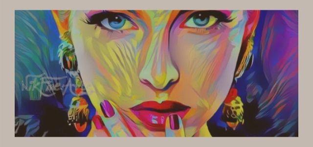 beautiful woman art