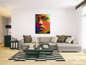 BEAUTIFUL AFRICAN FACE OF WOMAN - canvas print