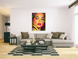BEAUTIFUL LADY FACE - canvas print