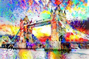 COLORFUL TOWER BRIDGE LONDON
