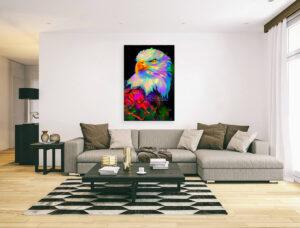 HEAD OF EAGLE - canvas print