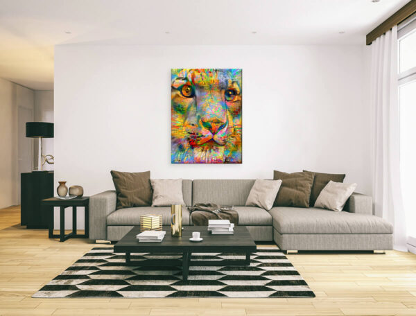 HEAD OF LITTLE TIGER - canvas print