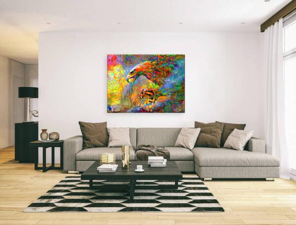 HUNTING EAGLE - canvas print