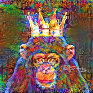 MONKEY WITH CROWN