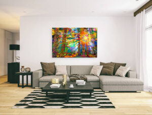 SUN RAYS IN FOREST 2 - canvas print