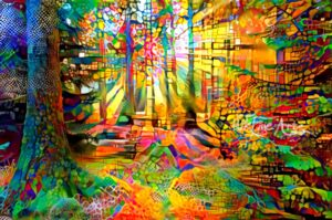 SUN RAYS IN THE FOREST 3