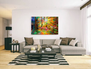 SUN RAYS IN THE FOREST 3 - CANVAS PRINT