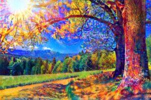 THE BIG TREE ON SUNRISE