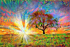 TREE ON SUNRISE