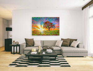TREE ON SUNRISE - canvas print